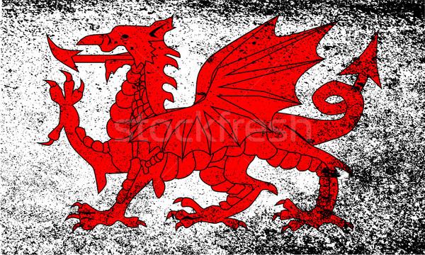 Welsh Dragon Grunge Stock photo © Bigalbaloo