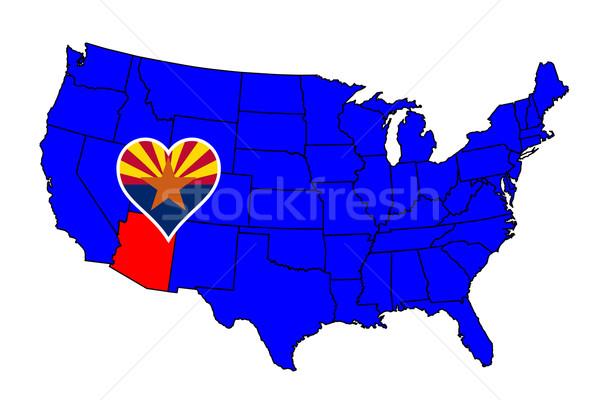 Arizona ikona zestaw Pokaż Stany Zjednoczone Zdjęcia stock © Bigalbaloo