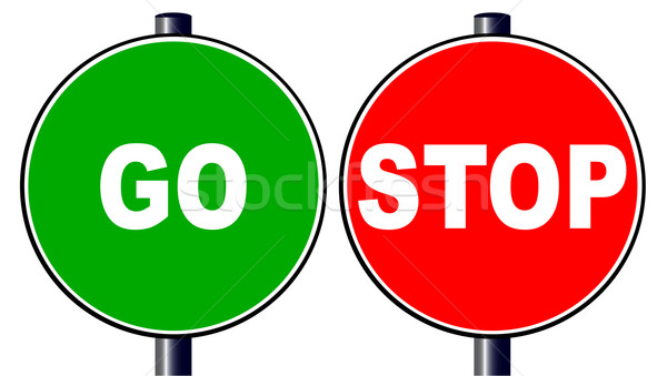 Stop Go Stock photo © Bigalbaloo
