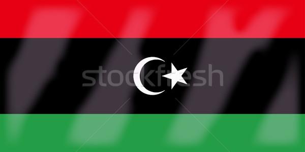 Libia banderą Afryki kraju Afryki Zdjęcia stock © Bigalbaloo