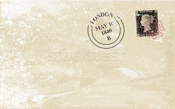 старые конверт типичный пенни черный британский Сток-фото © Bigalbaloo