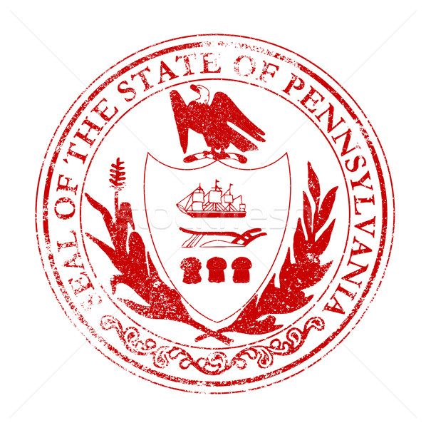 Pennsylvania Seal Rubber Stamp Stock photo © Bigalbaloo