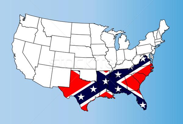 Confederate States Stock photo © Bigalbaloo