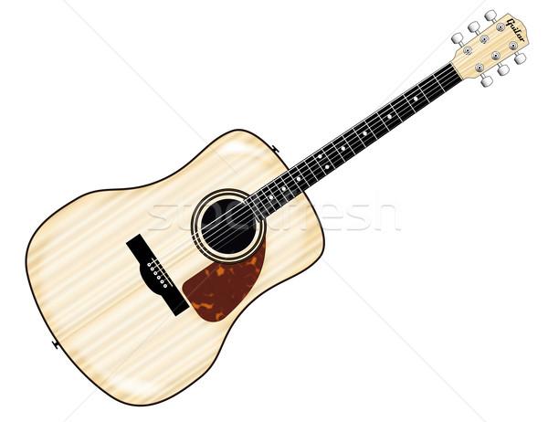 Pale Acoustic Guitar Stock photo © Bigalbaloo
