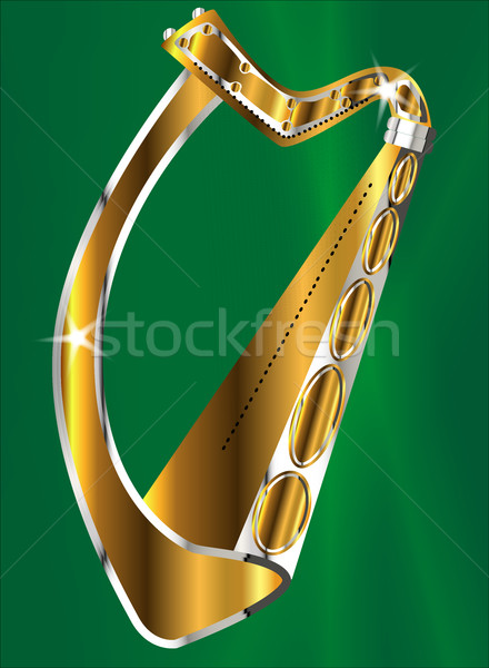 Golden Irish Harp Stock photo © Bigalbaloo