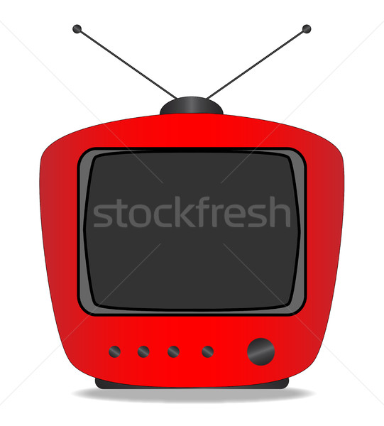Old Television Set Stock photo © Bigalbaloo