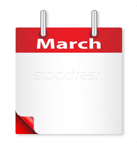 Blank March Date Stock photo © Bigalbaloo