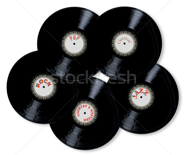 Vinyl Collection Stock photo © Bigalbaloo