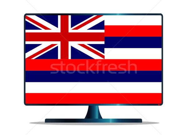 Bandiera tv schermo del computer computer monitor mac Foto d'archivio © Bigalbaloo