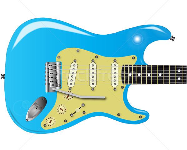 50年代 エレキギター 伝統的な 固体 ボディ 金属 ストックフォト © Bigalbaloo
