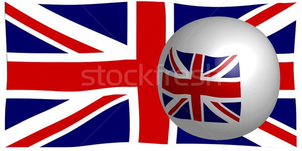 Union jack vlag brits unie gebruikt boord Stockfoto © Bigalbaloo