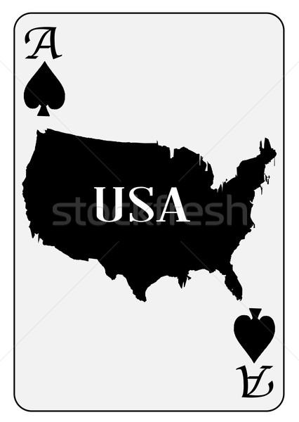 USA Playing Card Ace Spades Stock photo © Bigalbaloo