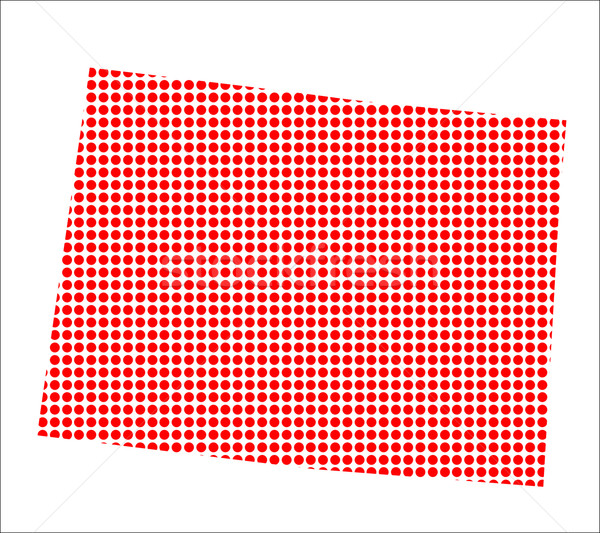 Red Dot Map of Colorado Stock photo © Bigalbaloo