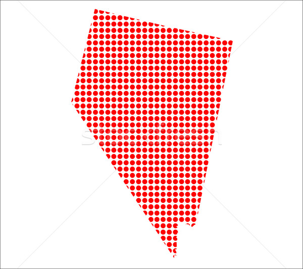 Red Dot Map of Nevada Stock photo © Bigalbaloo