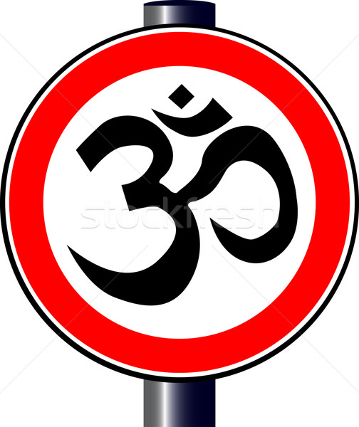 Om Traffic Sign Stock photo © Bigalbaloo