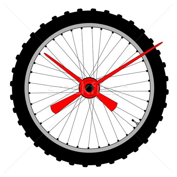 Bicycle Wheel Clock Face Stock photo © Bigalbaloo