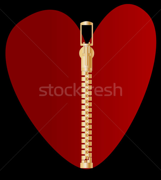 Zipper Heart Stock photo © Bigalbaloo