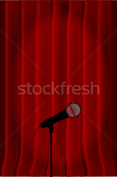 Radio Microphone Stock photo © Bigalbaloo