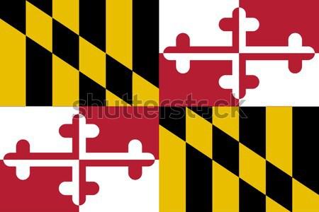 Maryland State Flag Stock photo © Bigalbaloo