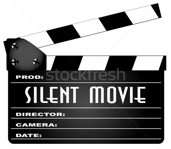 Silent Movie Clapperboard Stock photo © Bigalbaloo