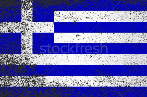 Bandiera Grecia grunge effetto Foto d'archivio © Bigalbaloo