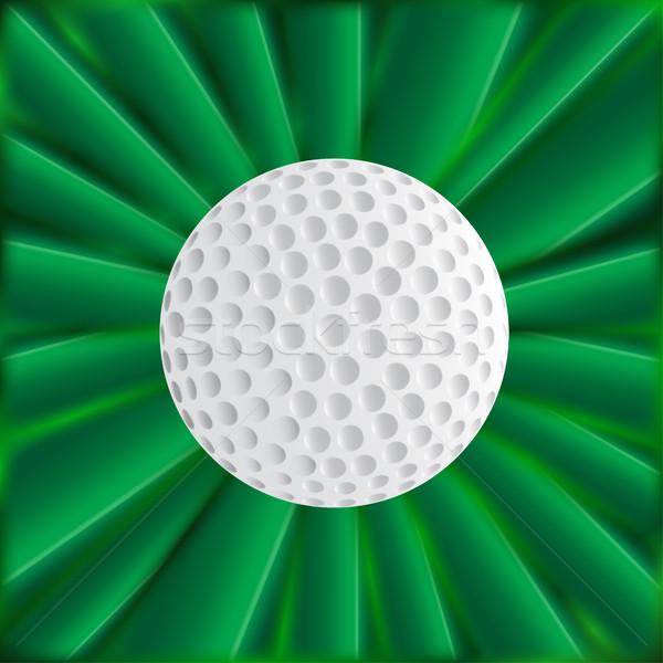мяч для гольфа зеленый типичный мяч для гольфа материальных искусства Сток-фото © Bigalbaloo