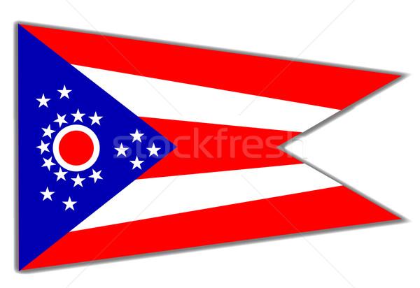 Ohio State Flag Stock photo © Bigalbaloo