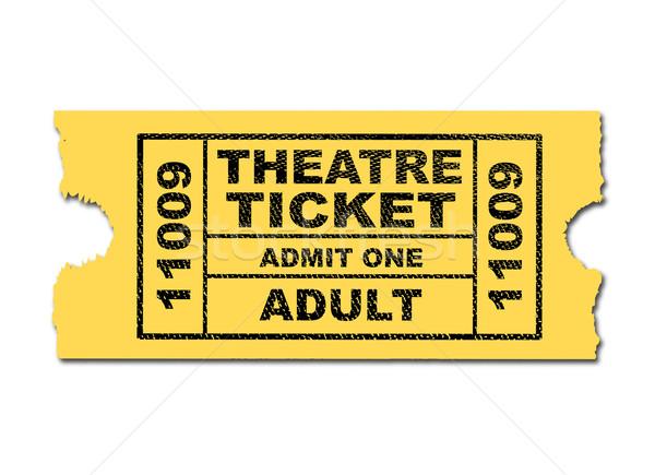 Theatre Ticket Stock photo © Bigalbaloo
