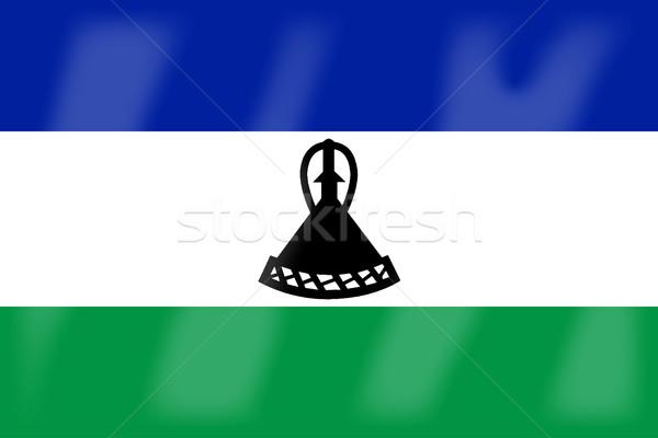 Lesotho pavillon africaine pays Afrique Photo stock © Bigalbaloo