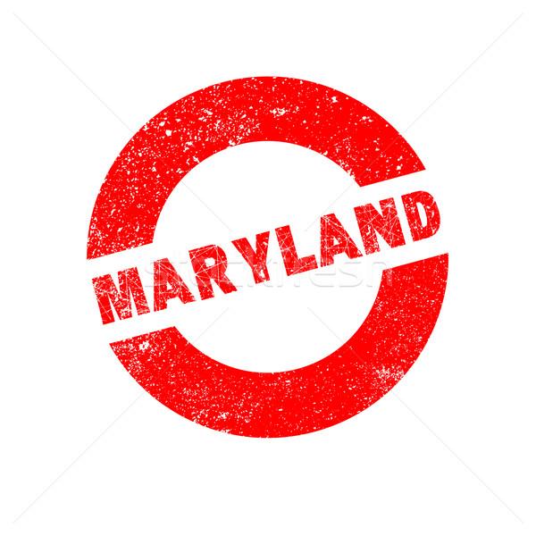 резиновые чернила штампа Мэриленд текста Сток-фото © Bigalbaloo