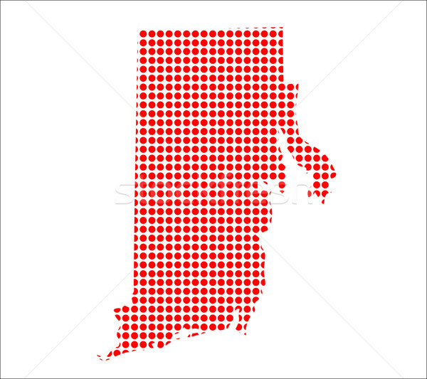 Red Dot Map of Rhode Island Stock photo © Bigalbaloo