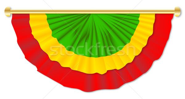 Zöld citromsárga piros rajz kultúra szalag Stock fotó © Bigalbaloo