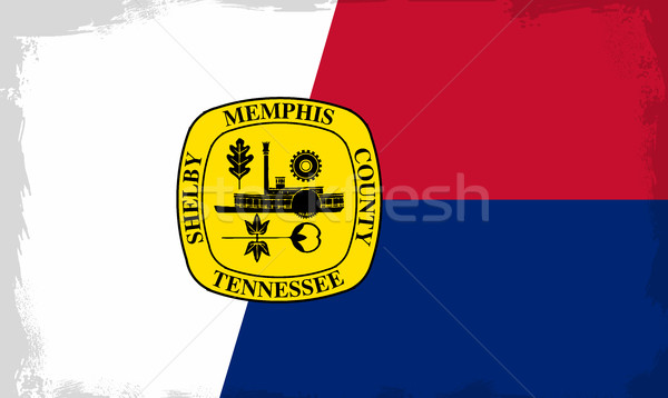 Memphis City Flag Stock photo © Bigalbaloo