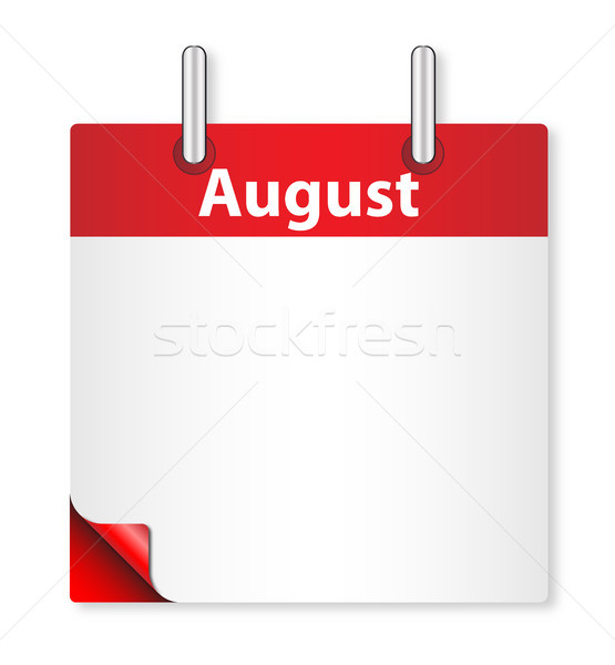 Blank August Date Stock photo © Bigalbaloo