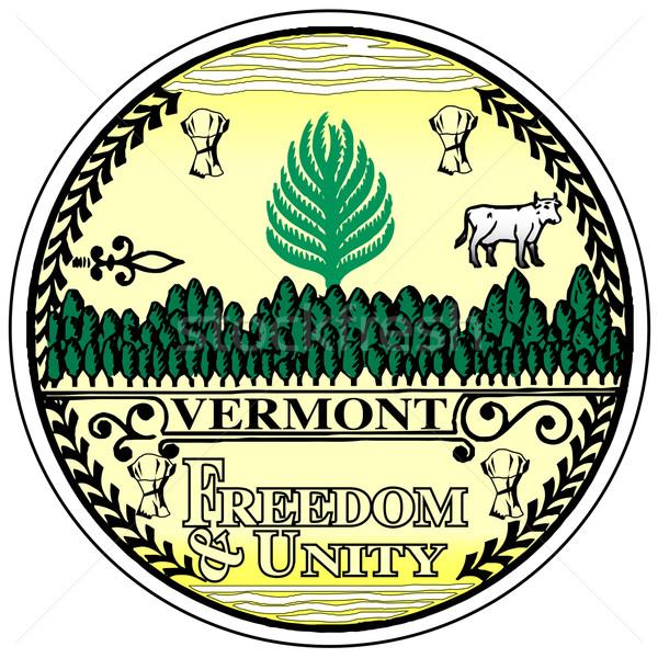 Vermont mühürlemek beyaz grafik Amerika Birleşik Devletleri Stok fotoğraf © Bigalbaloo