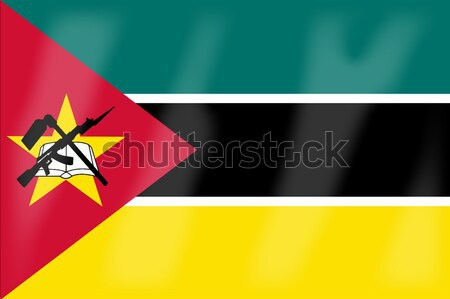 Mozambico bandiera african paese arte Foto d'archivio © Bigalbaloo