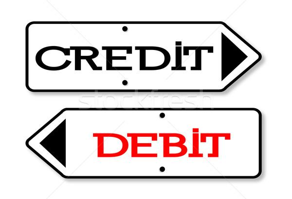 Crédito débito flechas flecha signos fijado Foto stock © Bigalbaloo