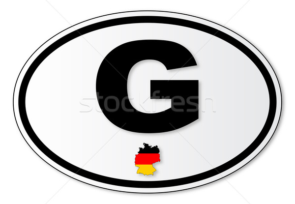G Plate Stock photo © Bigalbaloo