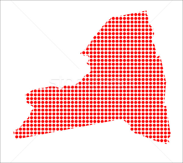 Red Dot Map of New York State Stock photo © Bigalbaloo