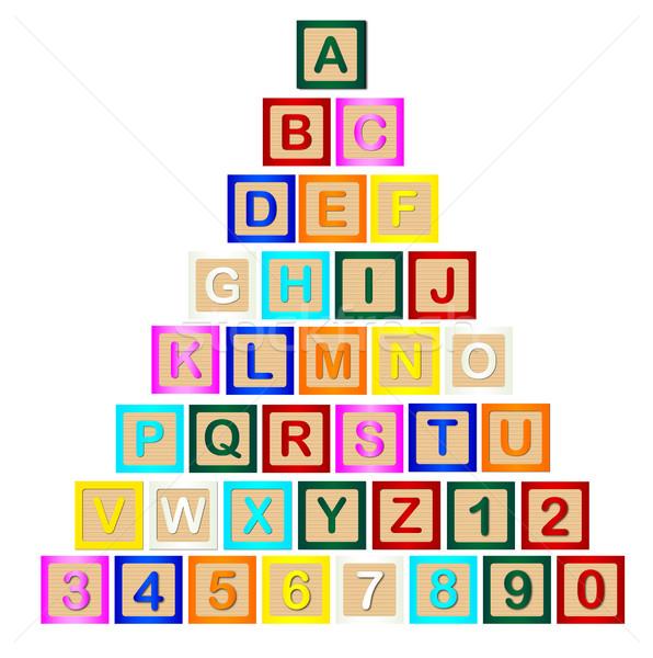 Block Letter Pyramid Stock photo © Bigalbaloo