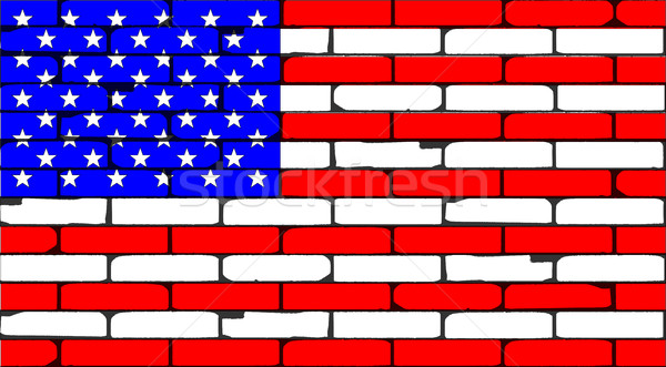 Stars And Stripes Wall Stock photo © Bigalbaloo