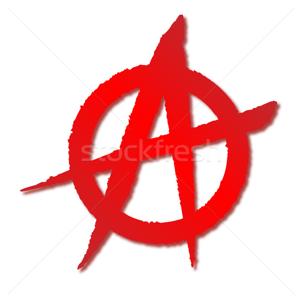 Red Anarchy Symbol Stock photo © Bigalbaloo