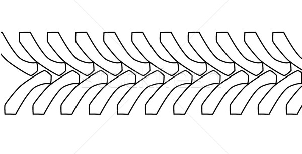 Tractor Tyre Tread Outline Stock photo © Bigalbaloo