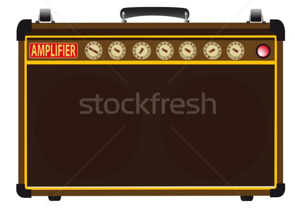 Potere amp chitarristi valvola isolato bianco Foto d'archivio © Bigalbaloo
