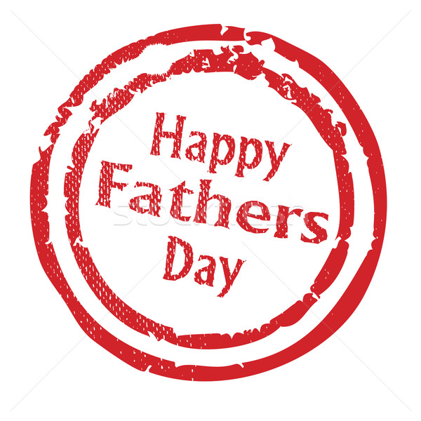 Stock photo: Happy Fathers Day Rubber Stamp