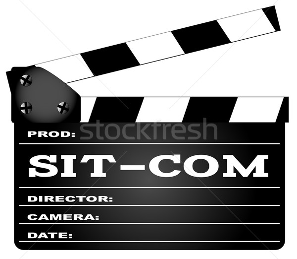 Sitcom Clapperboard Stock photo © Bigalbaloo