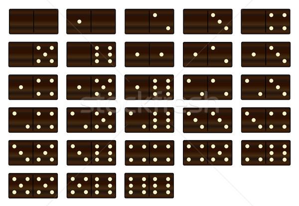 Fából készült szett teljes fekete tábla műanyag Stock fotó © Bigalbaloo