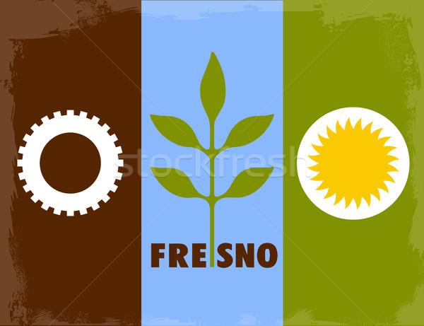 Város zászló háttér rajz Kalifornia illusztráció Stock fotó © Bigalbaloo