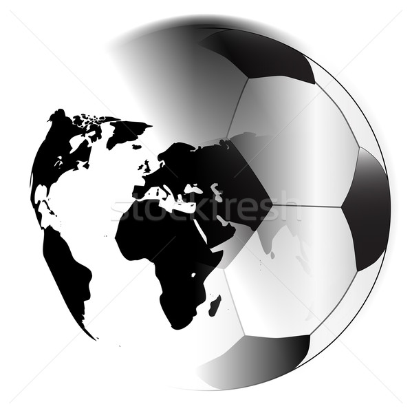 Earth Football Stock photo © Bigalbaloo