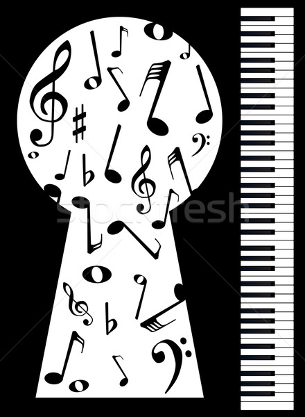 Piano Keyhole Stock photo © Bigalbaloo